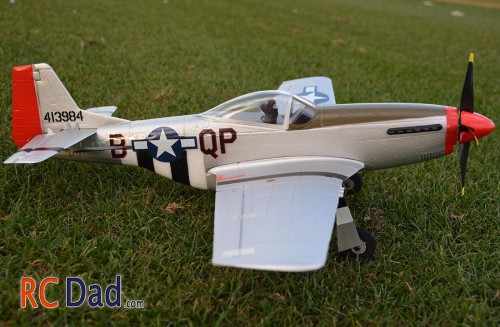 micro mustang rc airplane