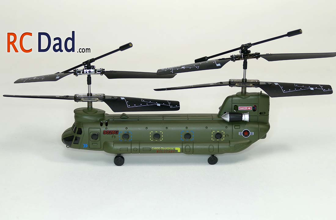 Chinook rc helicopter syma s026g for Helicoptere syma