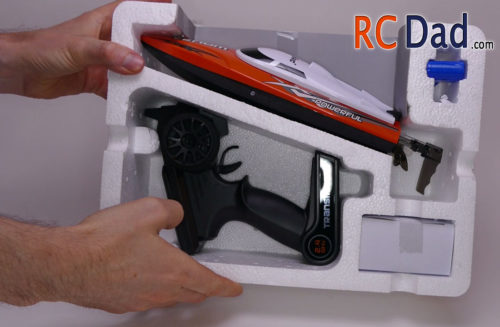unboxing rc boat